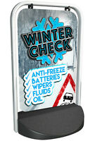 Winter Check PAVEMENT SIGN ALUMINIUM DISPLAY Car Servicing Sign for Garage