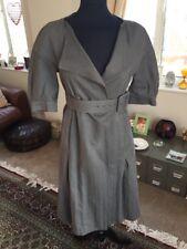 Slate Grey Marni Designer Net A Porter Wrap Belted Shirt  Dress