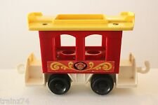 Vintage Fisher Price Little People Circus Train Car Red Caboose