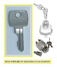 JCB DIGGER KEY  92274  -   926 IGNITIONS - LUCAS COMPATIBLE   FREE P+P IN UK