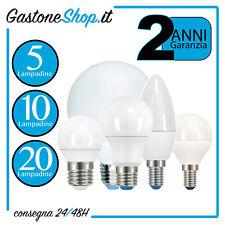 Lampadina LED E27 E14 da 25 40 60 75 100 120 150 200 W Goccia Globo Oliva Sfera