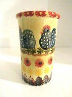 Italian Pottery Chicken Vase/Utensil Holder Hand-Painted ARS Made in Italy