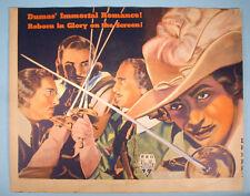 1935 The Three Musketeers Original Window Card Movie Poster RKO Radio Alex Dumas
