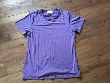 Texere Women's Short Sleeve Purple T-Shirt - Bamboo Viscose Top Size M