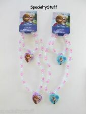 2 NEW DISNEY FROZEN NECKLACE & BRACELET 1 ANNA / ELSA 1 OLAF (OG)