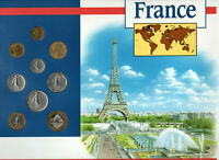 Coins of the World France 1968-1992 UNC 5 Francs 1972 20 Francs 92 1 Franc 1978