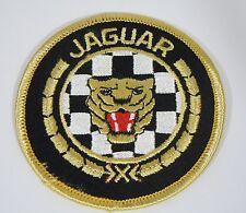 "JAGUAR Cars w/Classic Cat Head Iron-On British Automotive Car Patch 3"""