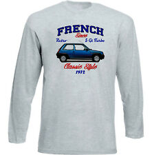VINTAGE FRENCH CAR RENAULT 5 GT TURBO - NEW COTTON T-SHIRT