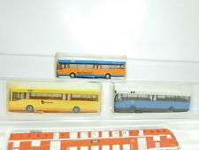 bk5-0,5 # 3x WIKING H0 / 1:87 Bus:702 / 1MB + 702 MERCEDES + 703 Man,NUEVO + OVP