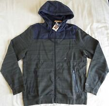 NWT American Eagle Men XL Zip Active Flex Fleece Hoodie Olive AEO Outfitter
