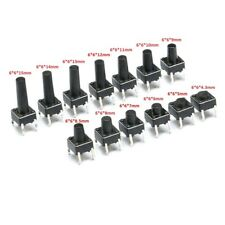 Momentary Tactile Push Button Switch 6*6*(4.3-15mm) Mini Micro Small PCB Mounted
