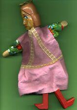 Holzspielpuppe--Kasperletheater--Prinzessin--Holzkopf-Holzhände--Holzfüße-