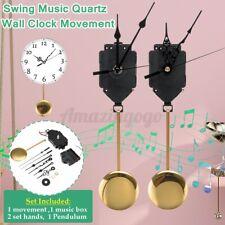 Quartz Pendulum Trigger Clock Movement Chime Music Box Completer Home Office DIY