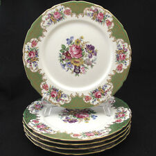 Rosenthal Continental 6772 Dinner Plate Multicolor Florals Green Rim Scroll Five