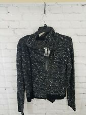 Willi Smith Womens Large Zip Cardigan Adorable Wool Blend Warm NWT Long Sleeve