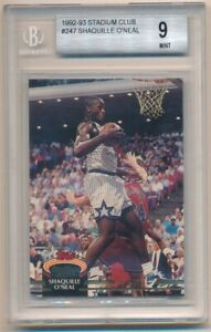 SHAQUILLE O'NEAL 1992/93 STADIUM CLUB #247 RC ROOKIE MAGIC LAKERS BGS 9 MINT