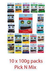 BCUK Frozen Fish Food-10 X 100g blister packs.-Bloodworm etc.-Pick N Mix