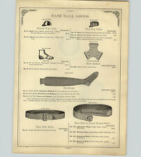 1890 PAPER AD Antique Baseball Caps Hat Flat Top Shoes Belts Rugby Footbnall