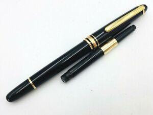 Y5598  MONTBLANC MEISTERSTUCK 144 Fountain Pen* Black 14K Gold 585