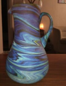 Hebron Phoenician Recycled Glass Pitcher