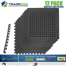 12PC Floor Mat Tiles EVA H/Duty Rubber Foam Interlocking Anti Shock Absorb Gym