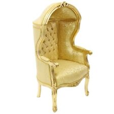 CHILDREN BAROQUE STYLE CUPOLA ARMCHAIR GOLD # F0MB11
