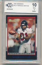 2001 Bowman Football Terance Mathis (Rookie Card) (#127) BCCG10 BCCG