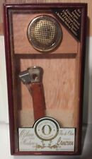Wooden Glass Oliva Torpedo Cigar Box with Unique Cigar Cutter
