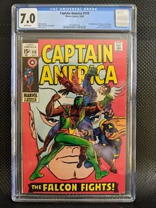 Captain America #118 CGC 7.0 WP 2nd Falcon appearance
