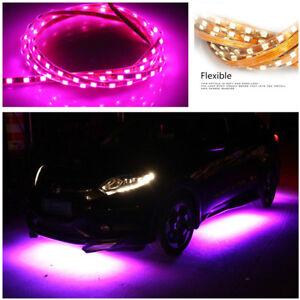Car Underbody Flexible LED Light Strip 2*90cm+2*135cm Pink with Purple LED Color