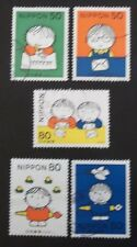 JAPAN USED 1998 LETTER WRITING DAY 5 VALUE VF COMPLETE SET SC # 2624 - 2628