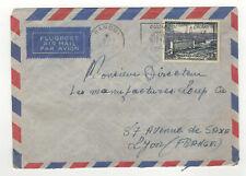 A E F Moyen-Congo 1 timbre sur lettre 1956 tampon Congo Bangui /L255