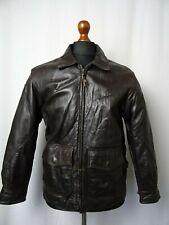 Men's Vintage BANANA REPUBLIC 1980'S Goatskin Flight Leather Jacket 38R (S)