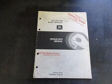 John Deere JD 321 and 338 Snow Throwers Operator's Manual  OM-M83251