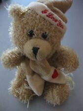 Bär Teddybär Teddy Plüschtier ca. 22 cm sitzend mit Zipfelmütze, waschbar,