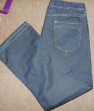 """Lovely Pair of Slightly Shiny George Blue Bootcut Jeans W38"""" & L:31"""" in VGC"""