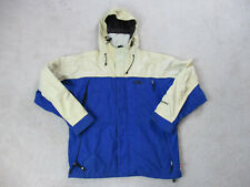 The North Face Jacket Adult Medium Blue White Outdoors Hooded Coat Mens *