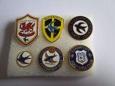 lotto 6 pins lot CARDIFF CITY FC club spilla football calcio badge spille