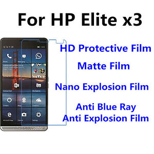 3pcs For HP Elite x3  Matte/Nano Explosion/High Clear Screen Protector