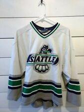 White Seattle Thunderbirds Vintage Ccm Minor League Hockey Jersey Sz Med