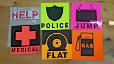 Car Safety Kit Break Down Bright Neon Colored Signage Warning Motorist Sweet Jam