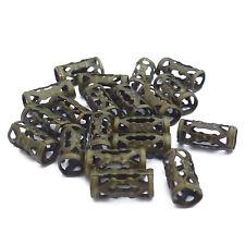 200 METALLPERLEN Zylinder RÖHRCHEN Farbe bronze #S597