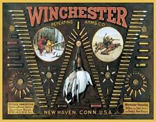 Winchester Bullet Board Tin Sign 0942