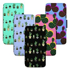 Cactus Patterns Flip Phone Case Cover Wallet - Fits Iphone 5 6 7 8 X 11