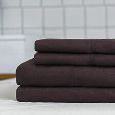 Lorient Home Twin 3 Piece Embossed Sheet Set - Oversized - Chocolate