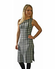 Checked Casual Stretch, Bodycon Sleeveless Dresses for Women