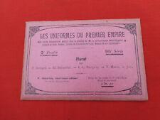 NAPOLEON Uniformes 1er Empire Série 95 Murat  illustré BUCQUOY BOISSELIER JOB