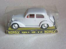 SIMCA 8 1200 - Norev 23 - échelle 1:43 - gris clair - blanc
