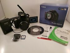 Canon Poweshot SX40 HS 12.1MP HD 1080p Camera 35x Flip Screen W/ Extras Tested