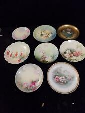 A8595  Great Lot of 8 Vintage Hand Painted? Plates